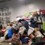 Thank you for donating so many supplies that our stock room overflowed with pet bedding.